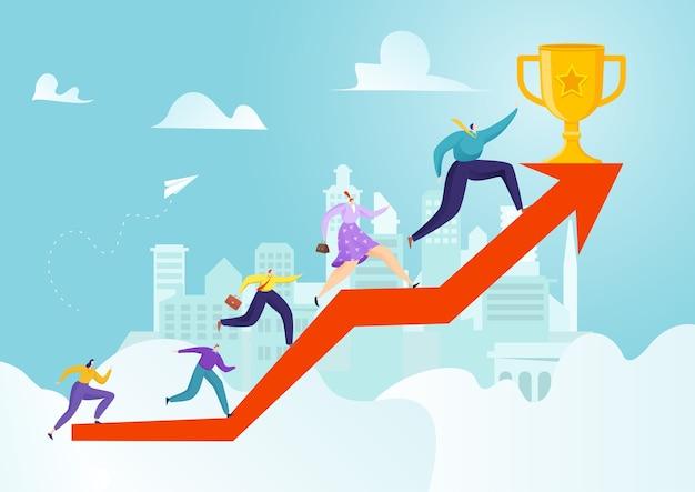 Рост успеха в бизнесе до чашки лидерства