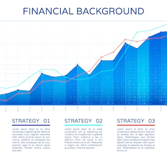 Growth chart economy concept. statistics business graph vector financial markets background. stock economic info chart illustration