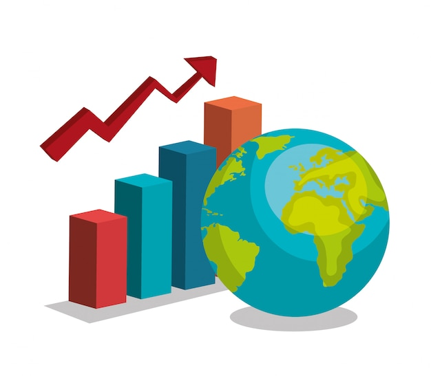Growth global Free Vector