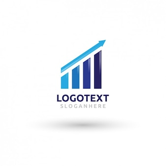 Growth graph logo in blue tones