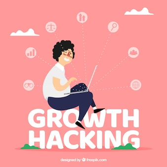 Growth hacking word concept