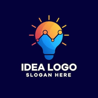 Дизайн логотипа градиента идеи роста