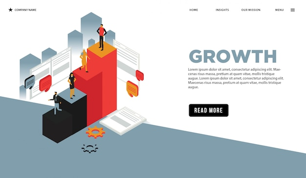 Growth isometric web page