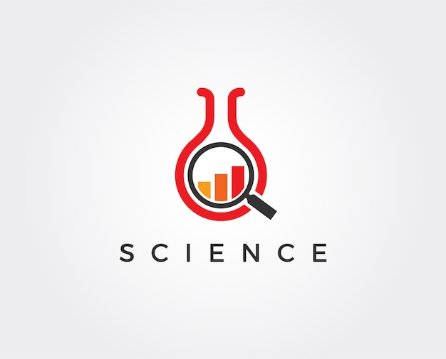 Шаблон логотипа лаборатории роста