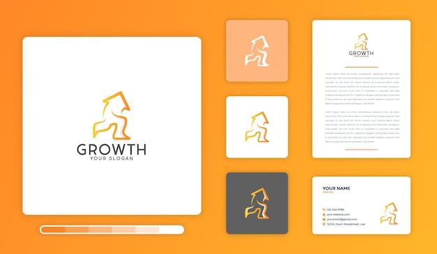 Шаблон дизайна логотипа роста