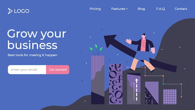 Growth modern abstract concept illustration landing page