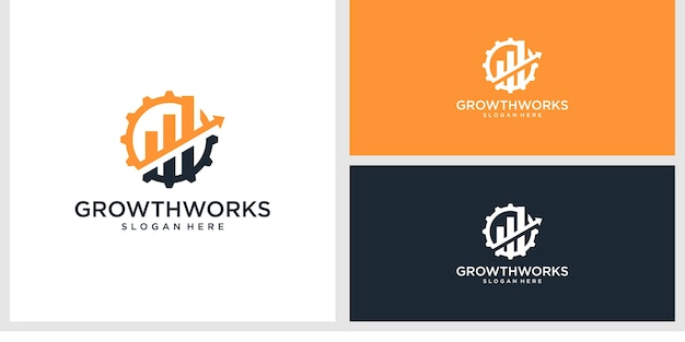 成長作品のロゴデザインテンプレート
