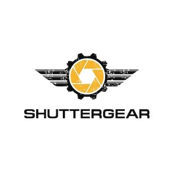 Grunge automotive photography logo and icon element