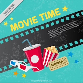 Grunge background of movie elements