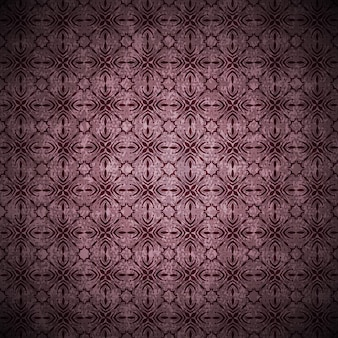 Grunge background in vintage style in purple color with abstract ornaments and flowers