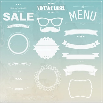 Grunge background with labels,