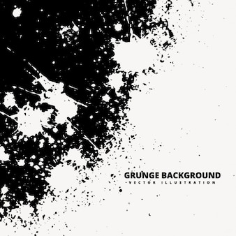 Grunge background with white spashes