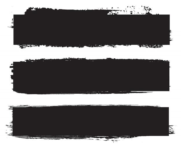 Гранж черные баннеры