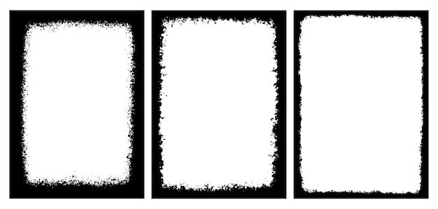 Grunge black border frames