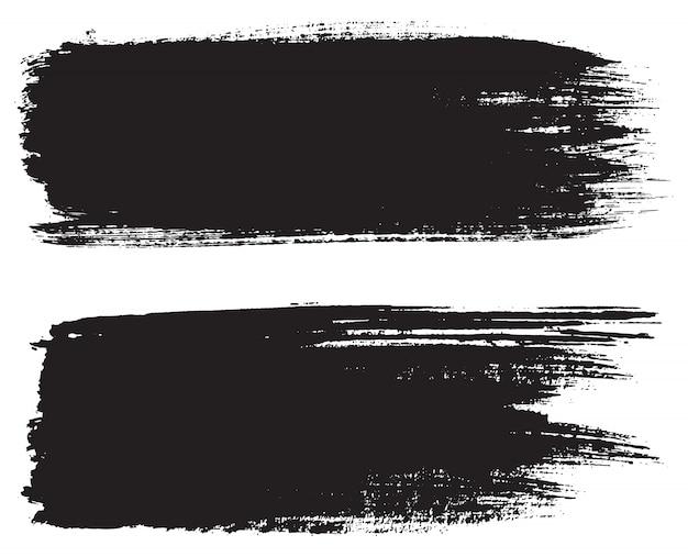 Grunge black brush strokes