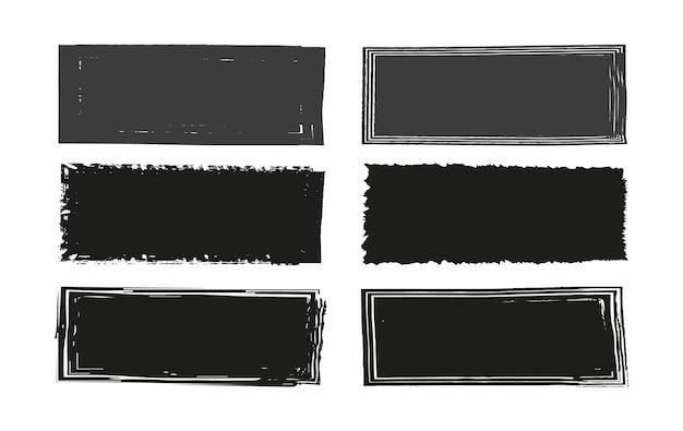 Grunge black frame set