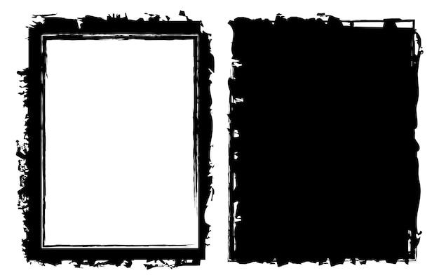 Grunge black frames