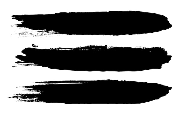 Grunge black rough brush strokes.