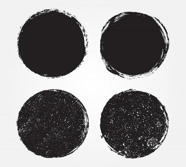 Grunge black round frames