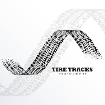 Grunge black tire tracks