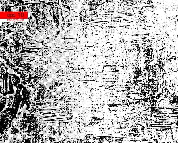 Grunge black and white urban vector texture background create abstract dotted