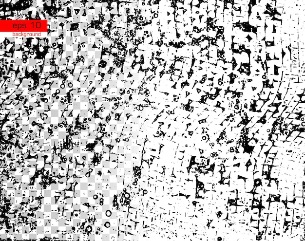 Grunge black and white vector texture template background