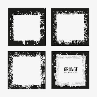 Grunge border frame set