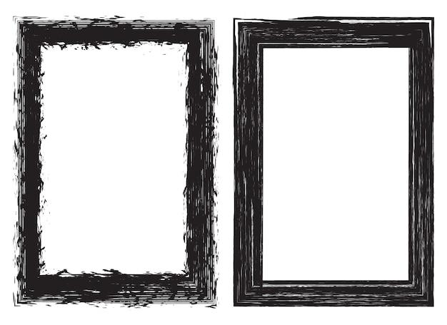 Grunge border frames