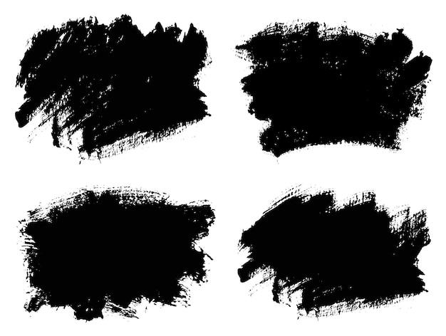 Grunge brush stroke banners