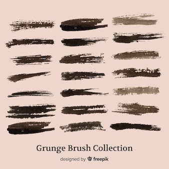 Grunge brush stroke collection