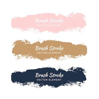 Абстрактная акварель grunge brush stroke set