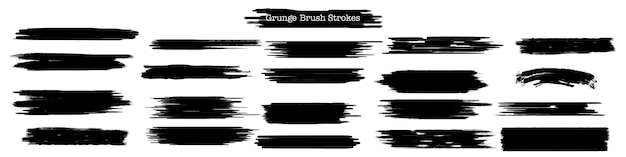Grunge brush strokes collection