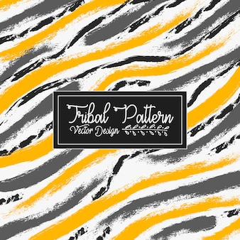 Grunge brush textured tribal pattern vector background