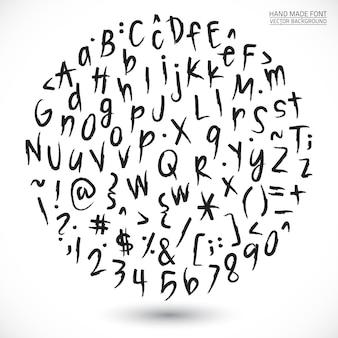 Grunge calligraphic hand made font