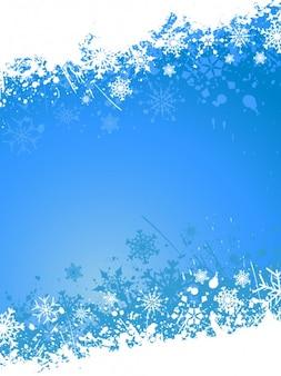 파란색에서 그런 지 크리스마스 배경