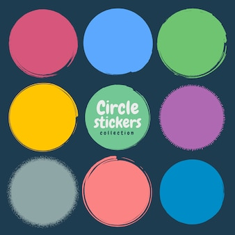 Grunge circle set.