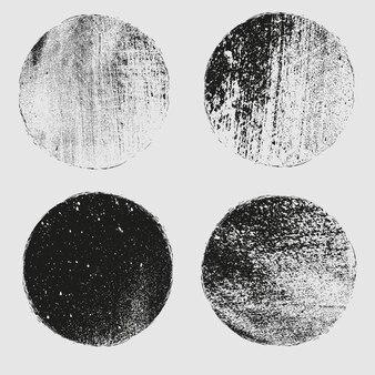 Коллекция гранж циркулярных марок