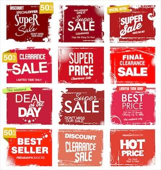 Гранж коллекция продажи фона