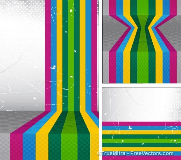 Grunge colorato modello di strisce
