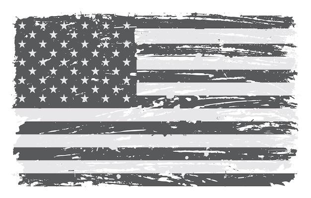 グランジ汚いアメリカの国旗