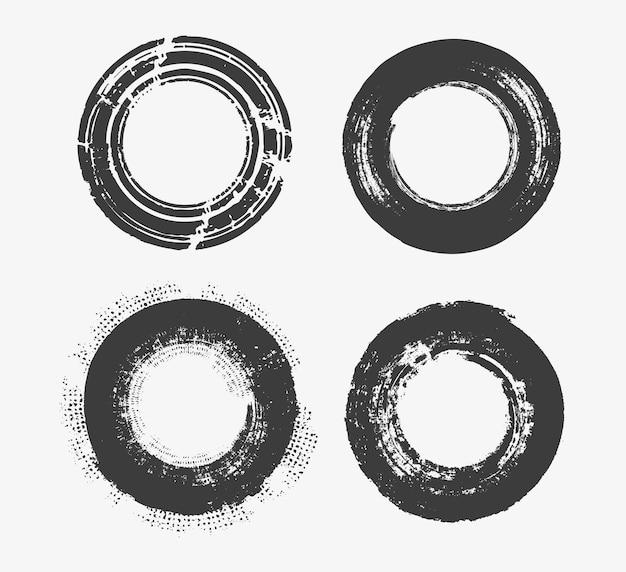 Grunge dirty circle set