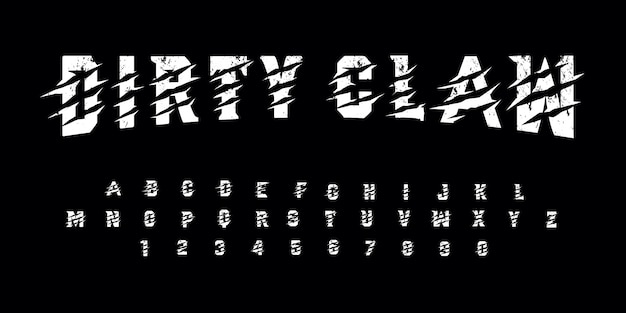 Grunge dirty claw font pack