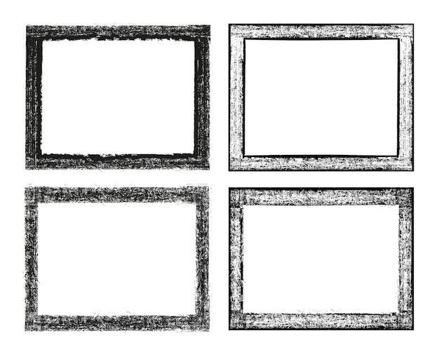 Grunge dirty frames set