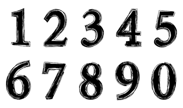Grunge dirty numbers
