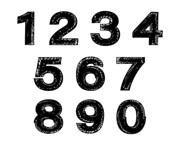 グランジ汚い数字