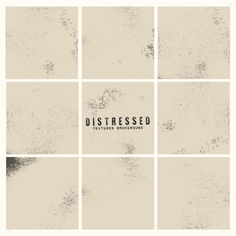 Grunge distressed background set