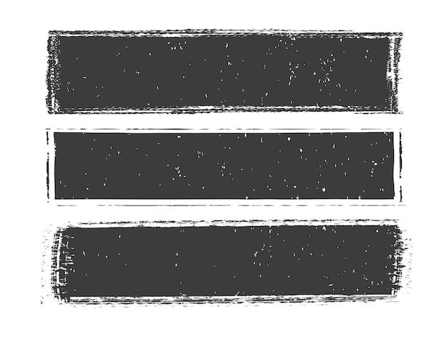 Grunge distressed banner set