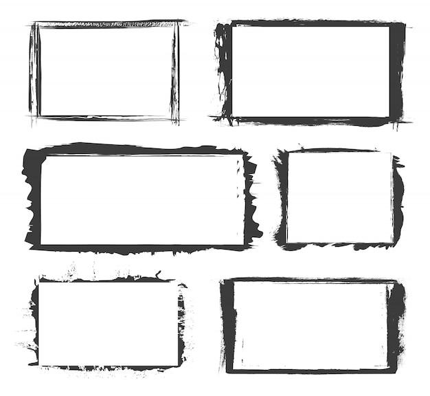 Grunge distressed border frames