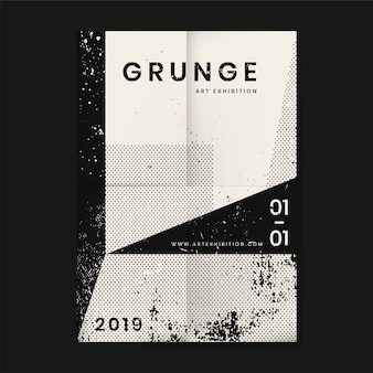 Grunge distressed texture poster