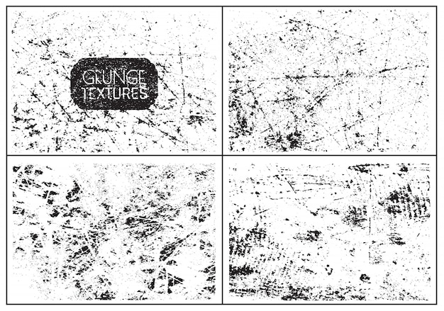 Grunge distressed texture set